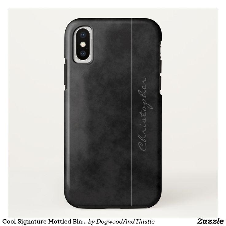 Cool Signature Mottled Black on iPhone X - design by Dogwood & Thistle ( #dogwoodnthistle ) #case #iphonex #giftsforhim