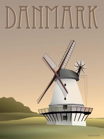 DANMARK Møllen - plakat