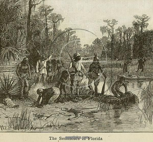 Natives of many Southeastern tribes as well as escaped African slaves found refuge in Spanish Florida...