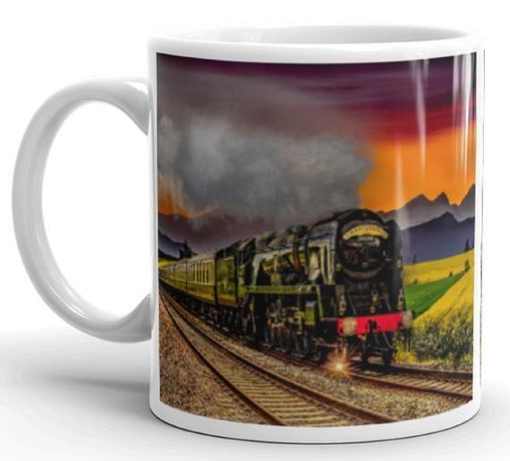 Train Mug Steam Train Mug Railway Mug Steam Engine Mug Etsy Mugs New Ceramics Train
