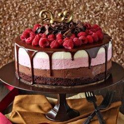 Chocolate Raspberry Mousse Cake