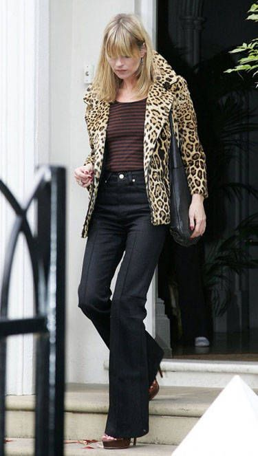 Kate Moss The Back to, The Return of The Jackets of Leopard