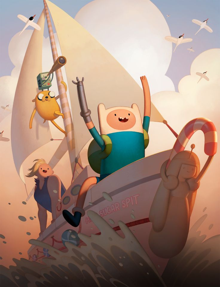 Adventure Time: Islands DVD cover artwork designed and painted by character & prop designer Joy Ang