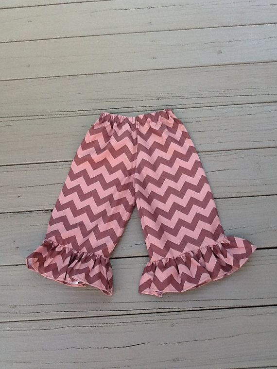 Girls Fall Thanksgiving Ruffle Pants Capris by EverythingSorella, $24.50