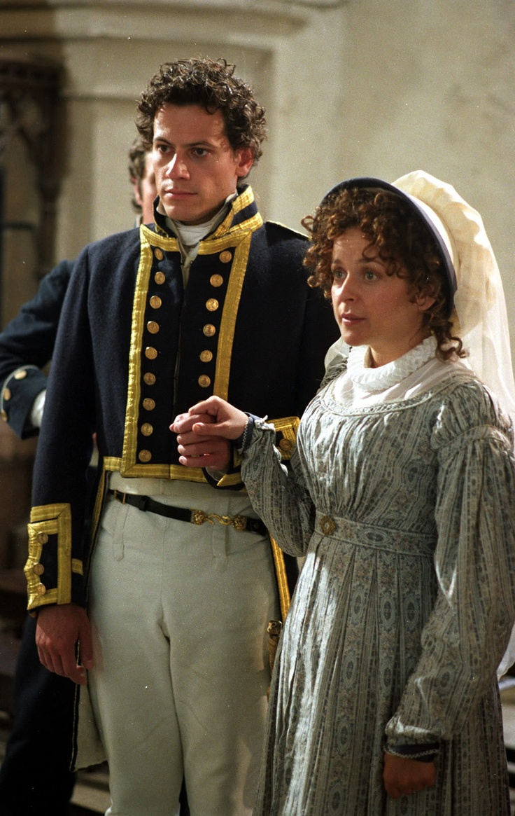 Ioan Gruffudd and Julia Sawalha as Horatio Hornblower and Maria Mason in the Horatio Hornblower movies