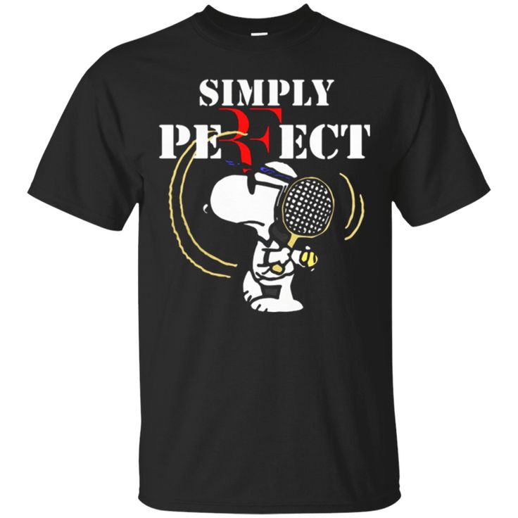 TT0157 Snoopy Roger Federer simply perfect Men's T-Shirt