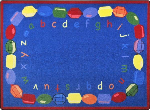 baby beads alphabet rug x rectangle