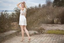 S/S 2015 Dress in silk (maybe for wedding or confirmation)  www.juliejespersen.com