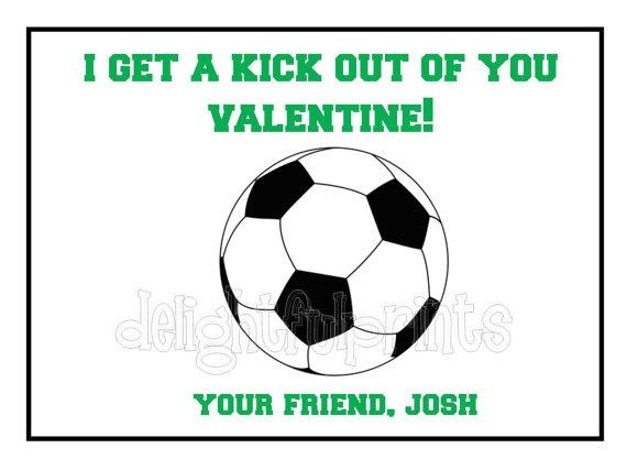 Soccer Kids Valentine Cards Personalized Set