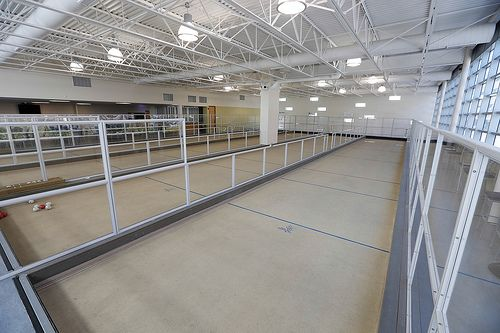 Bocce courts at Centennial Community Centre