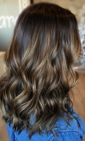 Beautiful and subtly sunkissed brunette highlights. Color by Beth Pawlik. Save