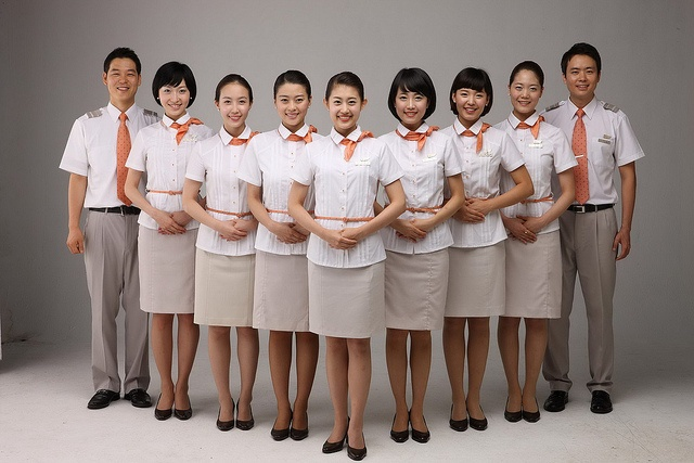 Jeju air flight attendants uniformes flight attendant for Korean air cabin crew requirements