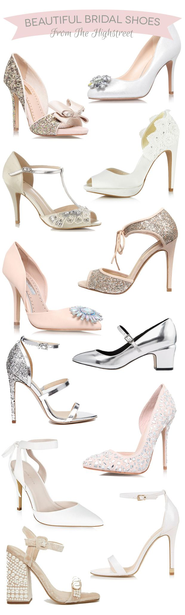 Beautiful Budget Friendly Bridal Shoes from the Highstreet | www.onefabday.com