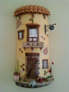 17 best images about barro decorado on pinterest roof - Como decorar macetas de barro ...
