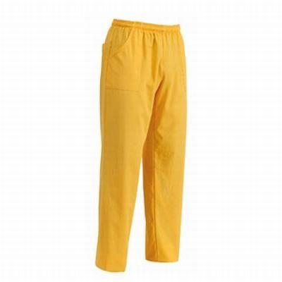 Pantalone Yellow con coulisse. Tessuto 35% cotone, 65% poliestere. Disponibile nel colore GIALLO.