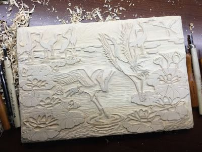 My First Woodblock Carving