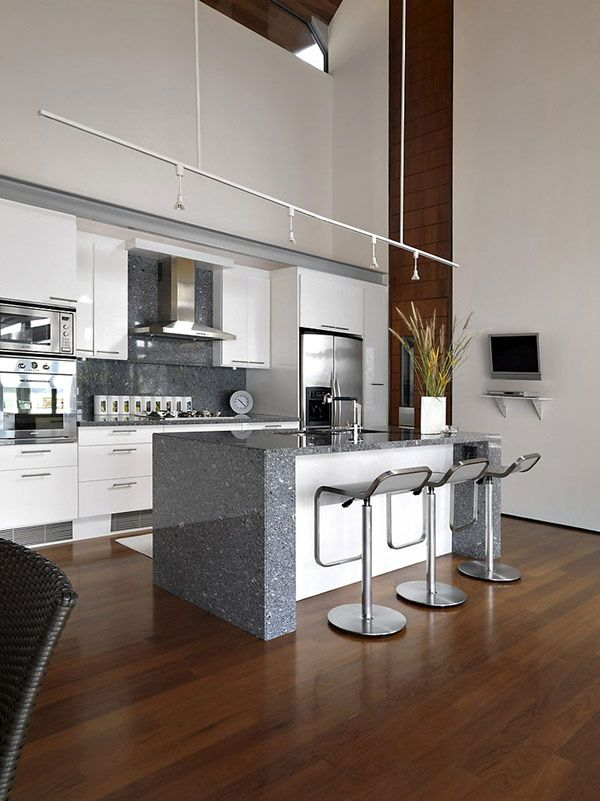 I love the kitchen island! The folding counter top is very sleek