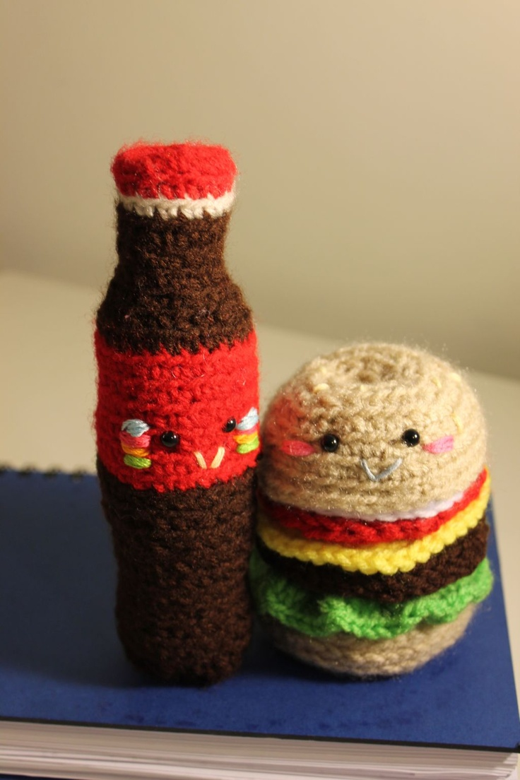 Amigurumi Fast Food : Super fun coke!! Amigurumi Food and More amigurumi food ...