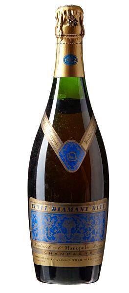 Heidsieck Monopole, Diamant Bleu - not 1961 vintage like Christian served to Professor Wyllie and Eliza