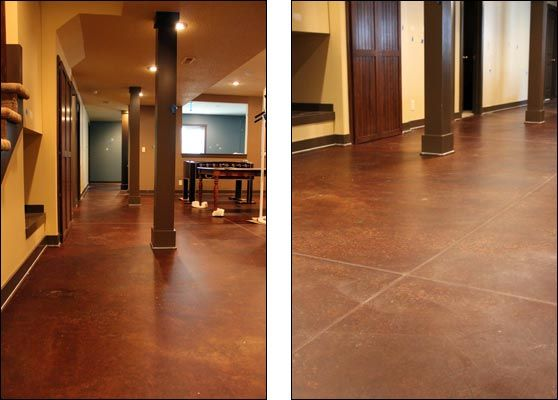 Basement Flooring Stained Concrete Floor When We To Inspiration Decorating