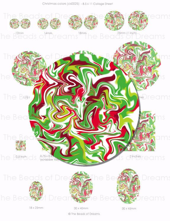 Beads and Jewelry supplies - The Beads of Dreams - Christmas color ...