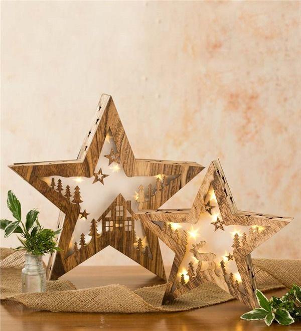 Fő kép nagy fa Lighted táblázat csillag