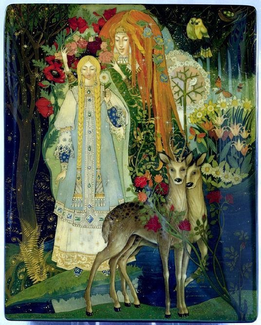 It was a lady; her cloak and cap were of snow. She was tall and of slender figure, and of a dazzling whiteness. It was the Snow Queen. || Snow Queen by Snehova kralovna