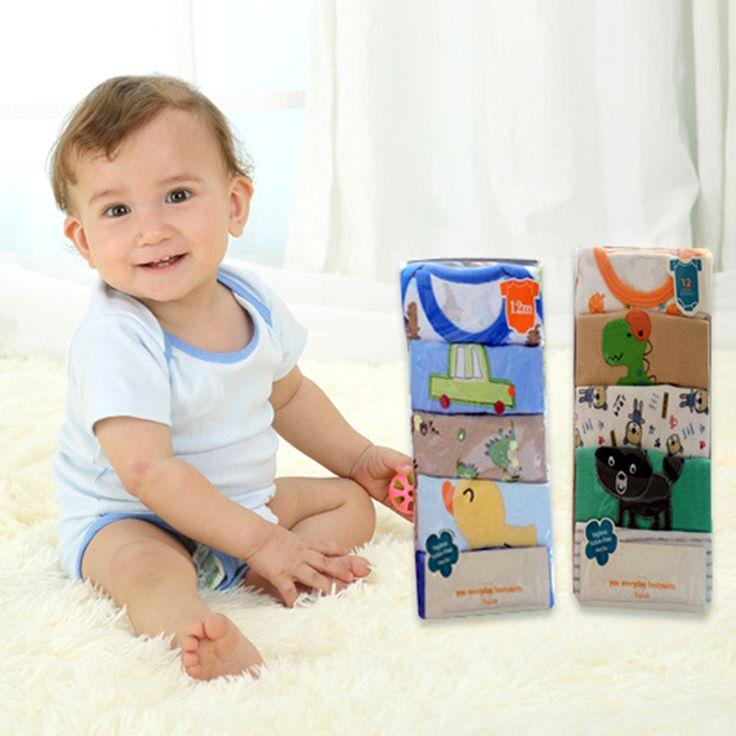 5 stks/partij baby body 100% katoen baby body korte mouw clothing soortgelijke jumpsuit cartoon gedrukt baby jongen meisje bodysuits