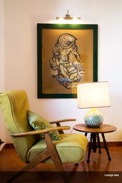 Arm chair in lounge at Villa Britannia - sicily design  Holiday villa Taormina sicily