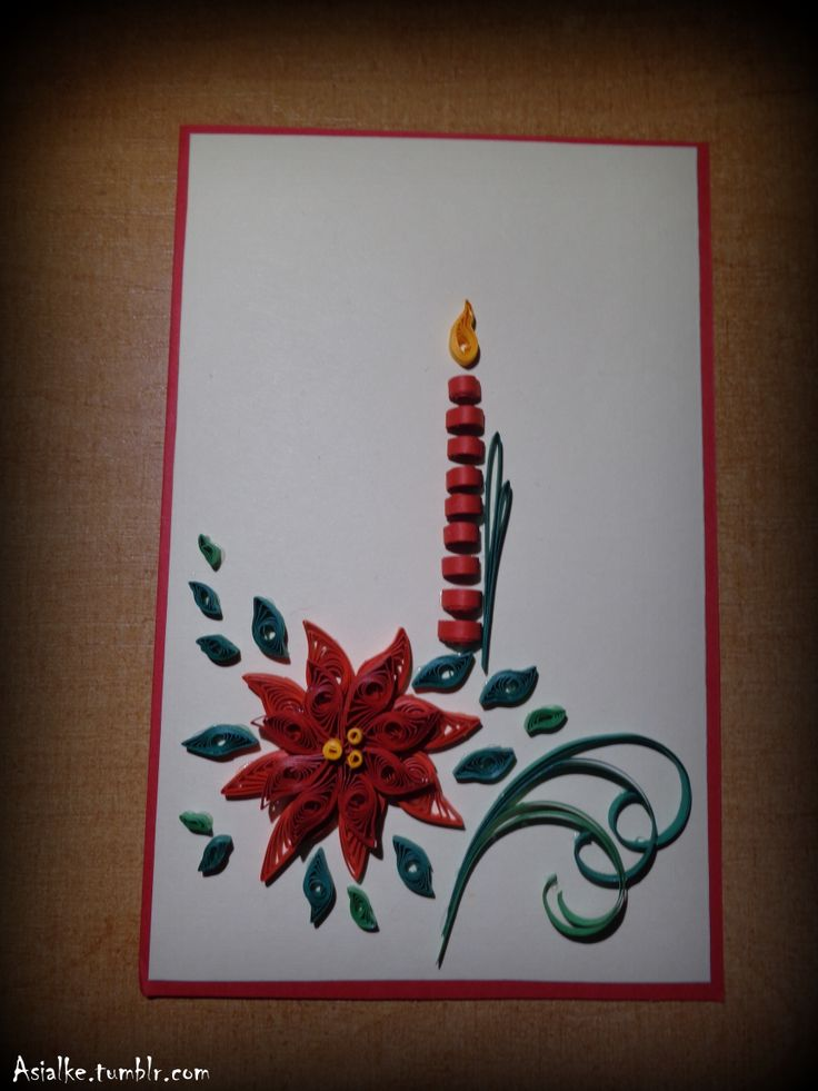 chrismas quilling card