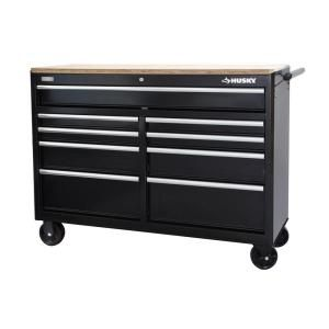 Husky 52 In W 9 Drawer Mobile Workbench 75809ah At The