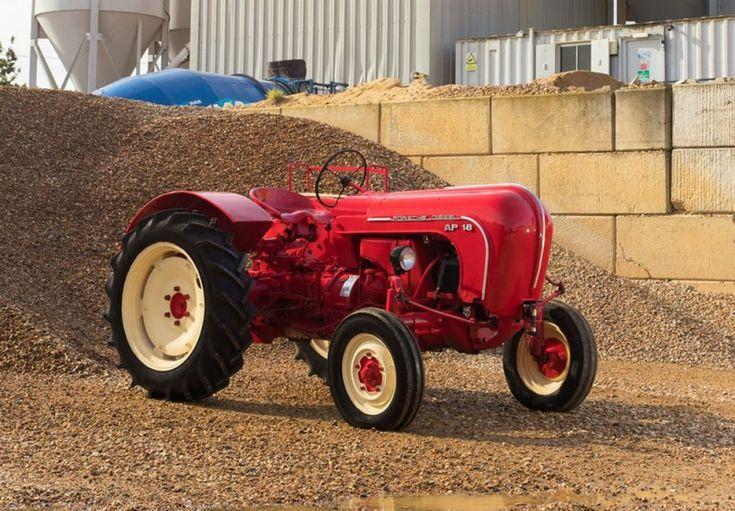 The restored 1957 #Porsche #diesel_engined Allgaier tractor for sale