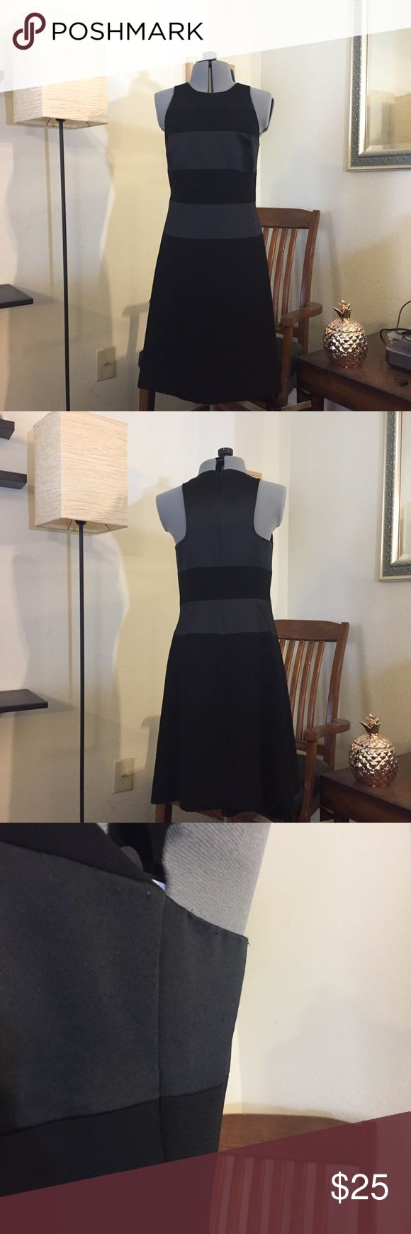 Maggie London petite black dress Black dress with satin block detailing. Dry clean only maggie london Dresses Midi