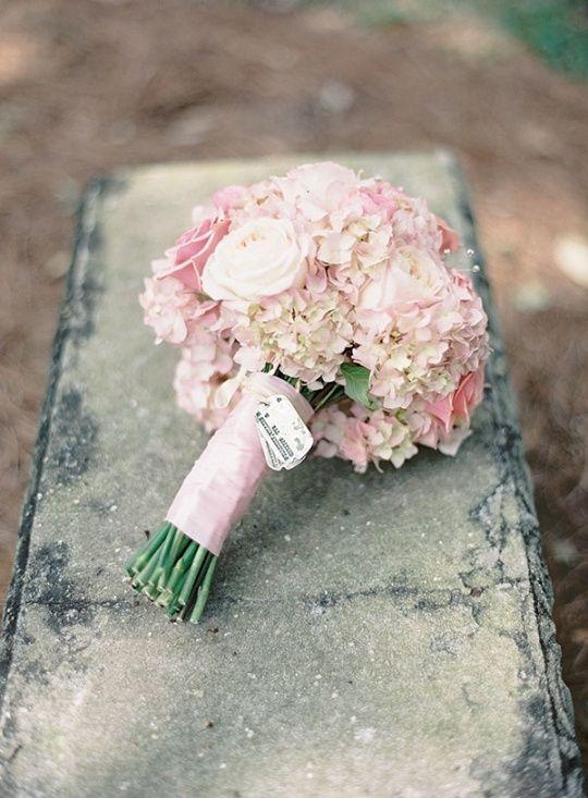 pink hydrangeas bridesmaids | pink hydrangeas bouquet | Wedding & stuff