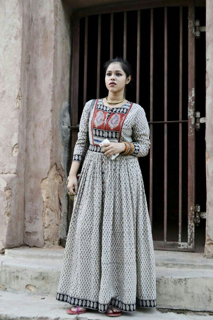 Cotton anarkali