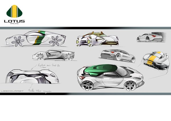 Lotus - Various sketches by Xavier LESCOURRET, via Behance