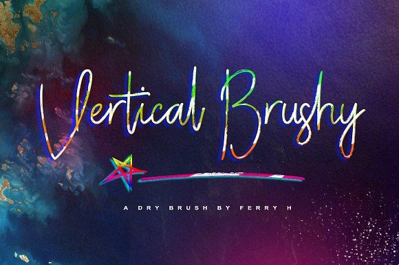Vertical Brushy (30% Off) by feydesign on @creativemarket