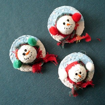 17 best images about snowmen on pinterest straw hats for Tiny top hats for crafts