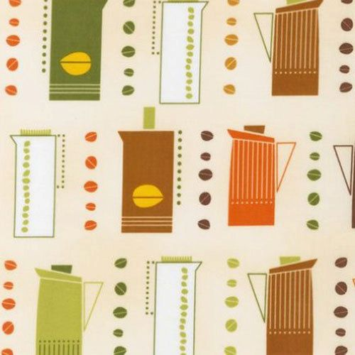 One 1 Yard Coffee Pots Metro Cafe Fabric by Robert by ShuShuStyle, $8.95