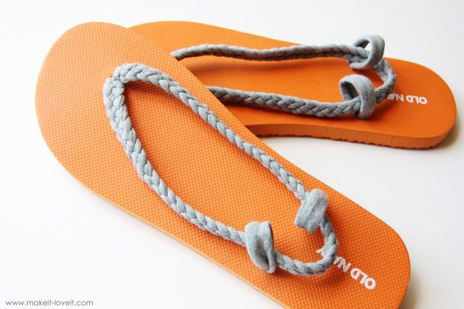 Recycled t-shirts to flip flops