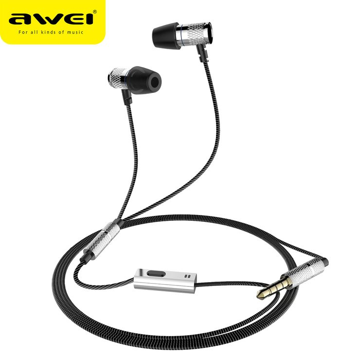 AWEI ES-660i Wired Earphones HiFi Stereo In Ear Earpiece Super Bass Sound Sport Music Earbud fone de ouvido casque auriculares  EUR 6.68  Meer informatie  http://ift.tt/2tQHEoJ #aliexpress
