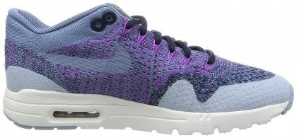 cheap for discount c87b2 4778a Nike Air Max 1 Ultra Flyknit Trainers Women s Blue Light Purple