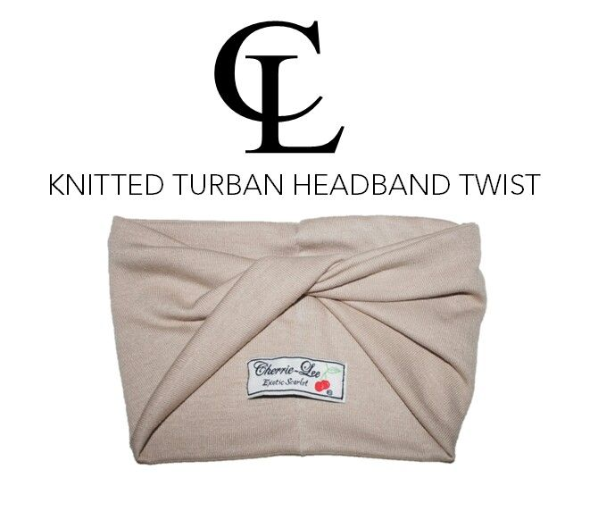 CL Nude knitted twist Turban headband #CL