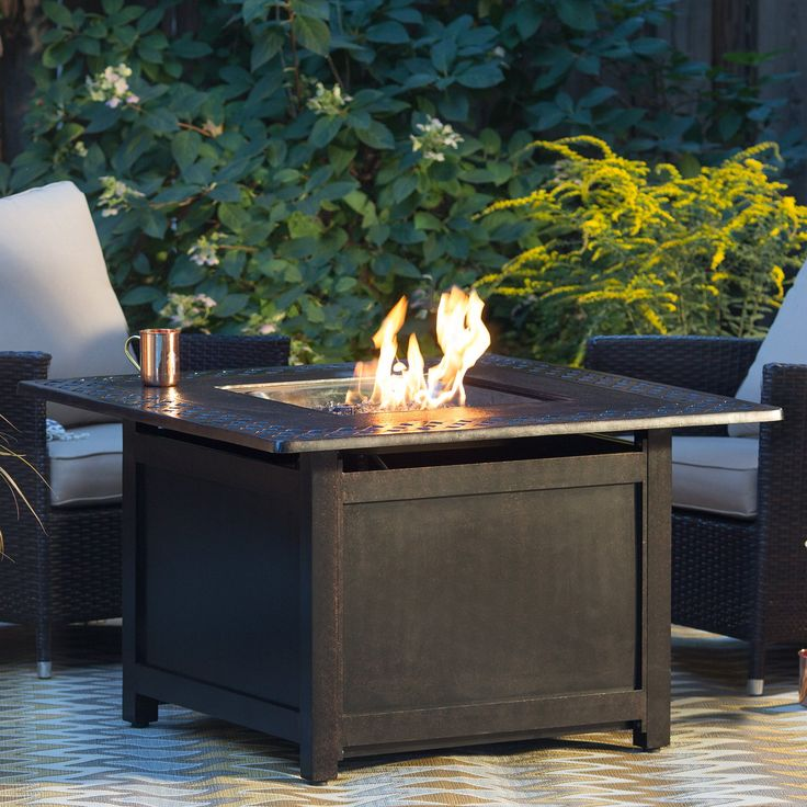 Napoleon Victorian Square Patioflame Gas Fire Pit Table - VICT2-BZ