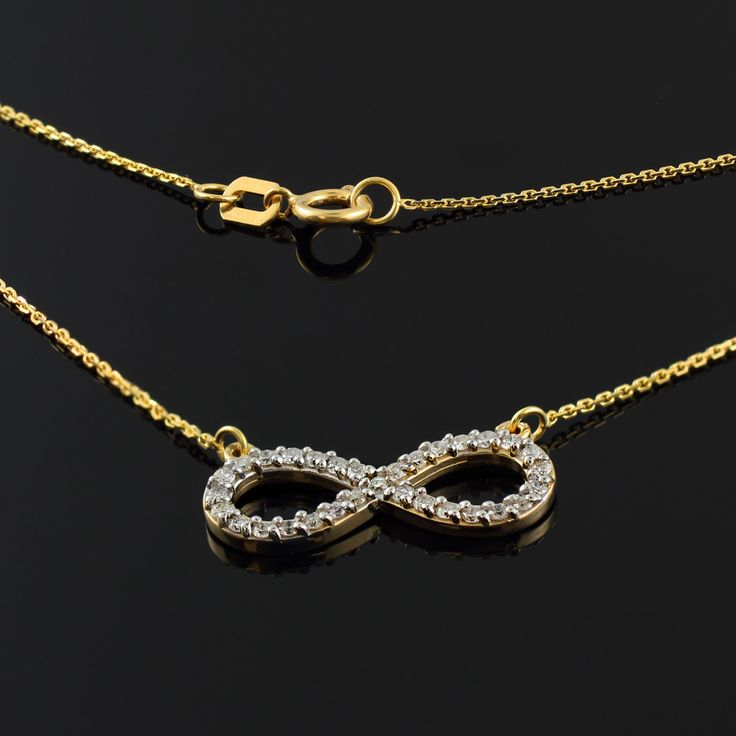 13 best infinity necklaces images on pinterest infinity necklace 14k gold diamond infinity necklace mozeypictures Choice Image