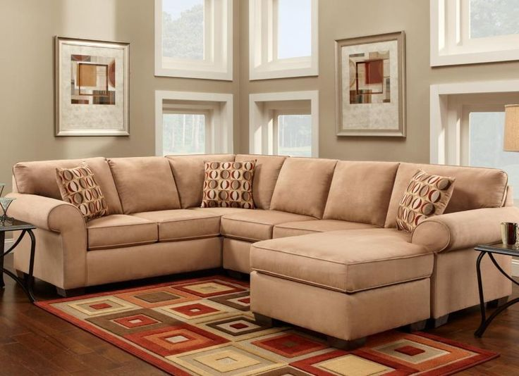 $1569 with pullout bed Chelsea Home Allegany Full Sleeper Sectional & Reviews | Wayfair