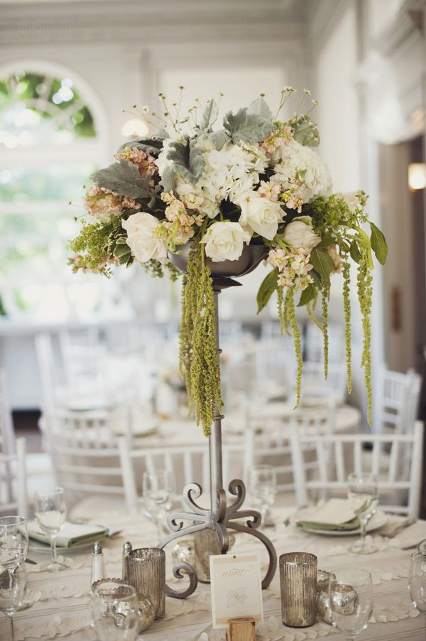 Wedding flowers centerpiece rustic