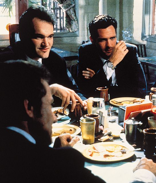 """spookyquentin:  Harvey Keitel, Quentin Tarantino and Michael Madsen in """"Reservoir Dogs"""" (1992)"""