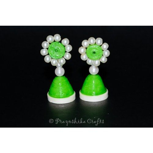 Colorful Jhumka earrings with beads.....