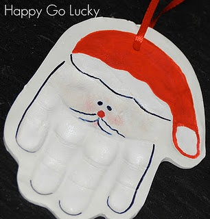 Santa Handprint Ornament (perfect for this year's Christmas activity with the grandkids)